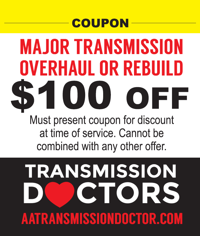 Coupon for Transmission Repair or Rebuild in Charleston SC